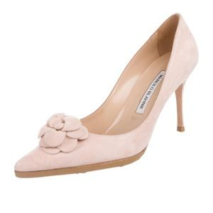 Suede Pink Manolo's Size 7.5